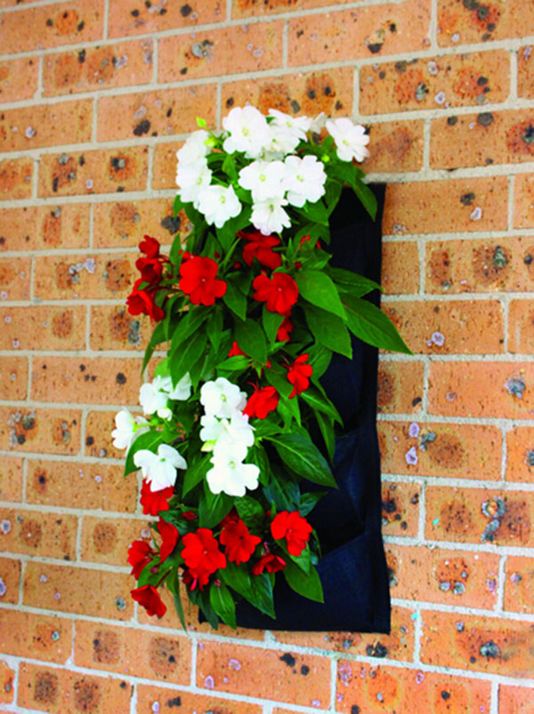 jardines verticales - pared bolsa de tela