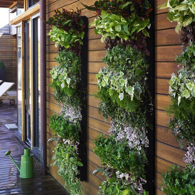 jardines verticales - enrejado macetas
