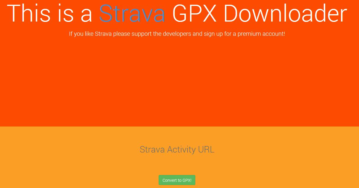 strava to GPX file