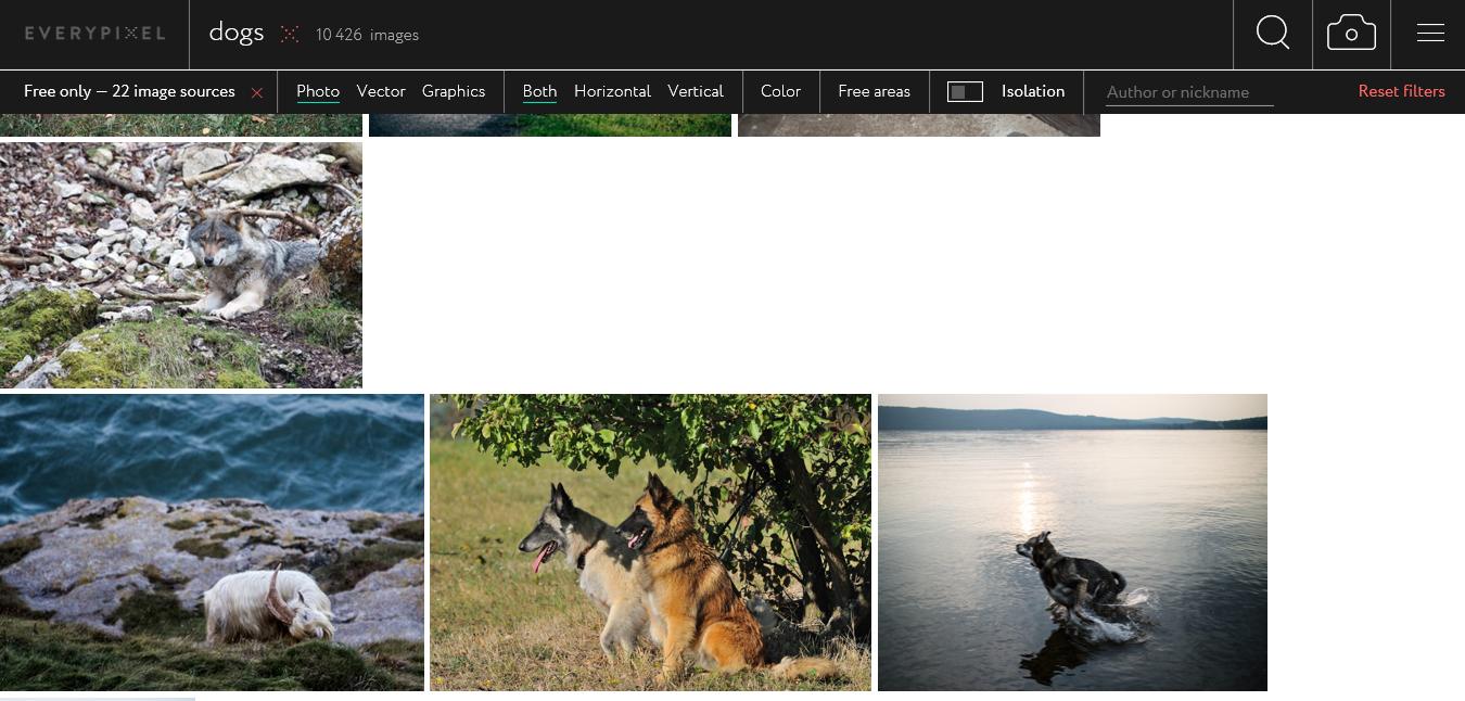 Everypixel es un excelente buscador de fotos
