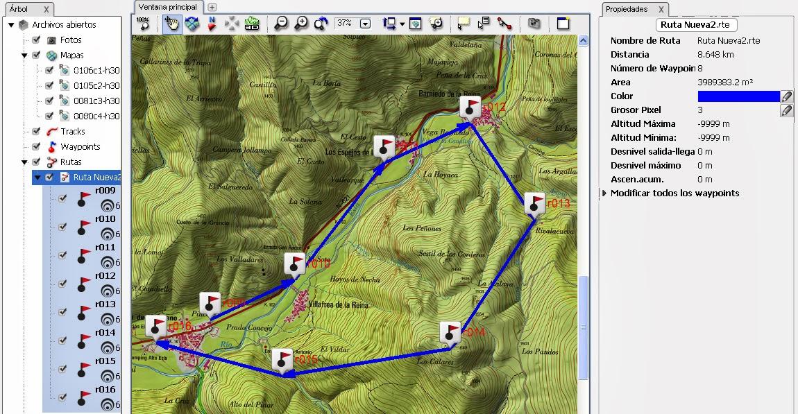 Diferencias entre track y ruta