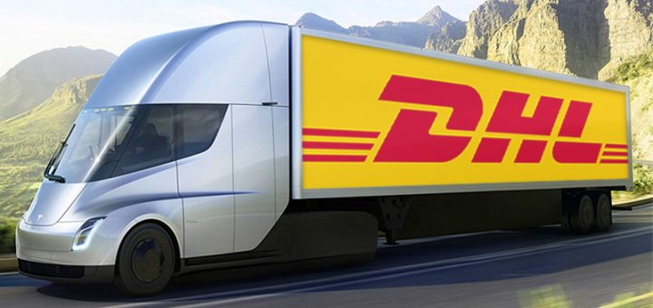 dhl tesla semi trucks