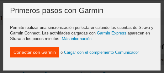 Sincronizar Garmin Connect con Strava